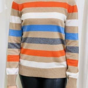 Multi Striped Merino Wool & Cashmere Jumper