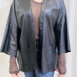 Black Leather Shacket