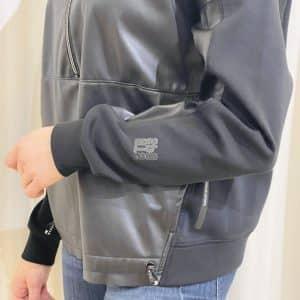 Black Sweatshirt with Mixed Materials