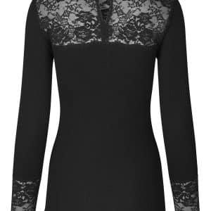 Black Polo Lace Top