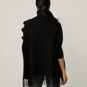 Faux Fur Poncho Style 214916