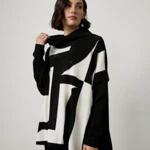 Geometric Jacquard Sweater Style 214930