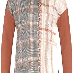 EcoVero Check Panelled Top