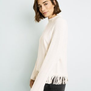 Ivory Jumper with Fringing