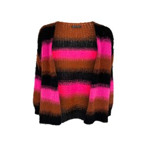 Pink Tibby Striped Cardigan
