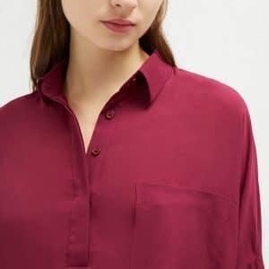 Hollyhock Crepe Pocket Shirt