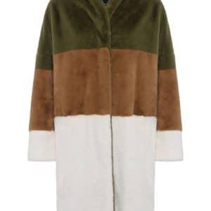 Multicolour Izo Faux Fur Coat